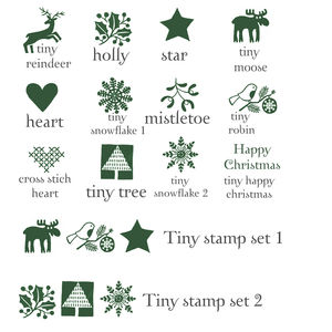 Tiny Christmas Stamps - christmas
