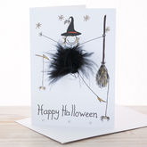 Handmade Personalised Halloween Card - halloween