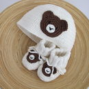 Hand Crochet Bear Motif Hat