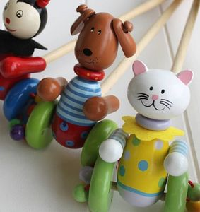 Wooden Push Along Cat Toy - toys & games