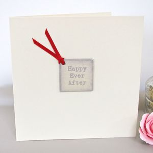 'Happy Ever After' Handmade Wedding Card