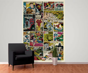 Marvel Print Wall Mural - home decorating