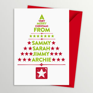 Pack Of Five Personalised Christmas Cards - cards & wrap
