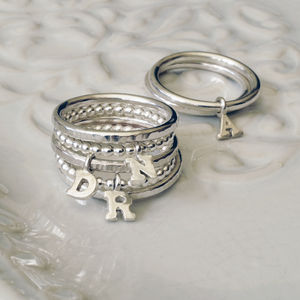 Personalised Tiny Initial Ring - rings