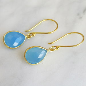 Chalcedony Earrings - earrings