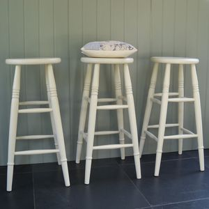 Custom Height Stool Hand Painted In Any Colour