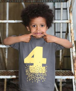 Children's Age / Number T Shirt With Optional Giftset