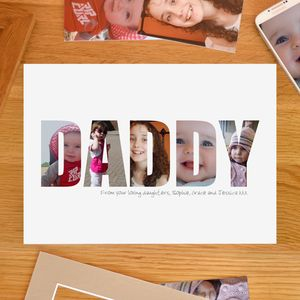 Personalised Daddy Photograph Print