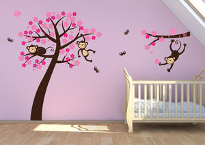 Monkey Blossom Tree Wall Stickers - shop by price