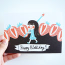 Lily Happy Birthday Illustrated Card