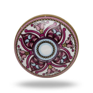 Floral Ceramic Knob - door knobs & handles