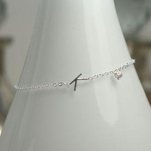 Silver Initial Bracelet - women's jewellery