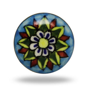 Colorful Ceramic Mahal Flower Knob