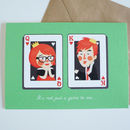 Queen And King Of Hearts Greeting Card
