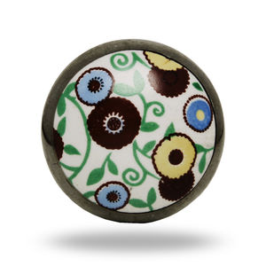 Ceramic Knob Round - door knobs & handles