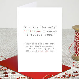 'Real Presents' Christmas Card - cards