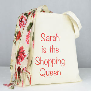 Personalised 'Shopping Queen' Bag