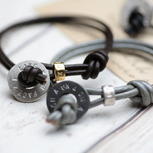 Personalised Men's Silver Toggle Bracelet