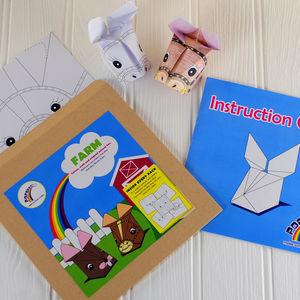 Farm Animals Origami Craft Kit