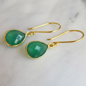 Green Onyx Earrings - women's jewellery
