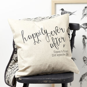 Personalised Engagement Gift Cushion - bedroom