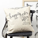 Thumb personalised engagement linen cushion