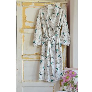 Hummingbird Print Dressing Gown - lingerie & nightwear