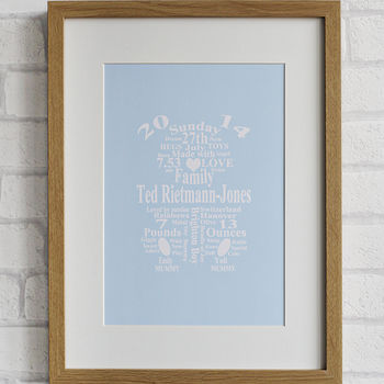 Personalised Teddy Bear Baby Print