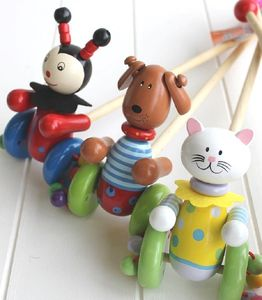 Wooden Push Along Mouse Toy - traditional toys & games