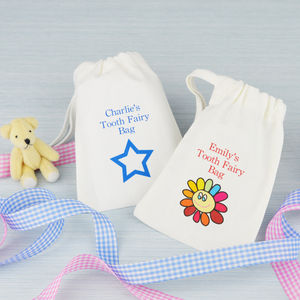 Personalised 'Tooth Fairy' Bag - children's room accessories