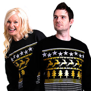 Matching His And Hers Wonderland Christmas Sweatshirts - jumpers & cardigans