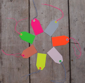 Neon Mix Gift Tags