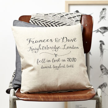 Personalised Love Anniversary Cushion