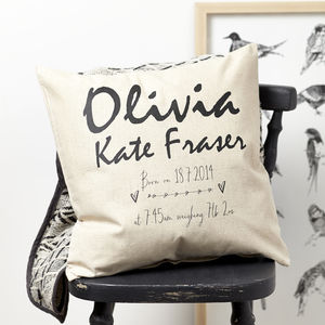 Personalised Baby Cushion - new baby gifts