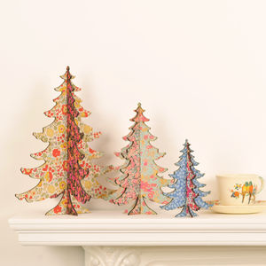 Liberty Print Table Top Christmas Tree - christmas trees