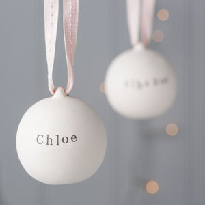 Baby's First Ceramic Bauble - baby's first christmas