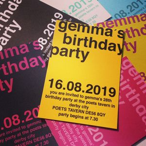 Personalised Modern Bold Party Invitation - invitations