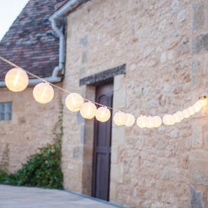 Warm White Lantern Fairy Lights - less ordinary garden ideas