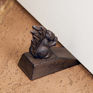 Cast Iron Squirrel Door Stop - home accessories