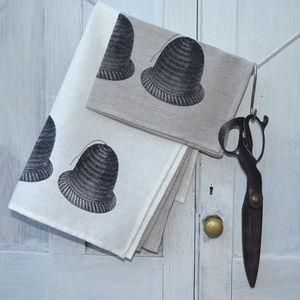 Linen Tea Towel Garden Twine - kitchen accessories