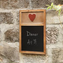 Country Heart Chalk Board