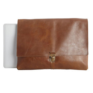 Buffalo Leather Laptop Case - laptop bags & cases