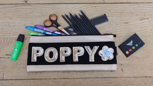 Personalised Girls Long Pencil Case - back to school
