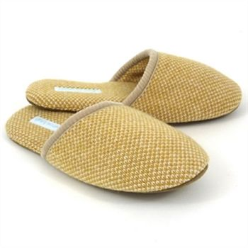 gold check lambswool slippers catherine tough