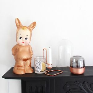 Copper Baby Lapin Lamp - bedroom