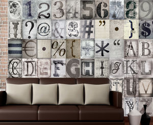 Typographic Wall Stickers - children's room