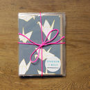 Set Of Six Origami Crane Greetings Cards