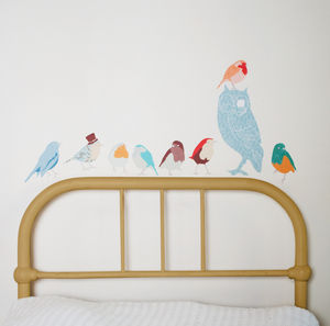 Coloured Bird Wall Stickers