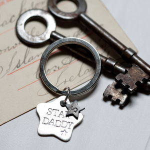 Personalised Men's Star Keyring