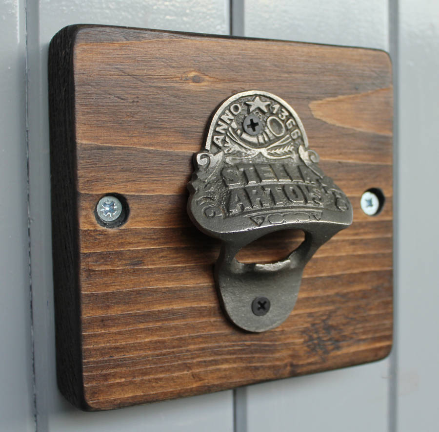 Reclaimed Wooden Beer Bottle Opener By Möa Design Notonthehighstreet